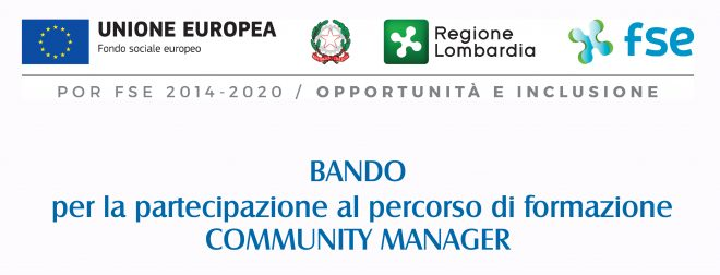 Bando Community Manager locandina FB
